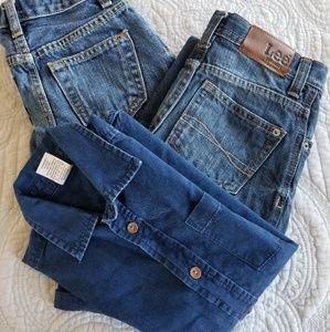 **Boys Bundle** Size 5-6  (2 jeans & 1 shirt)